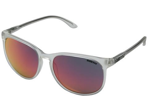 Smith Optics Mt. Shasta (Matte Crystal/Red Sol-X Carbonic TLT Lenses) Plastic Frame Fashion Sunglasses