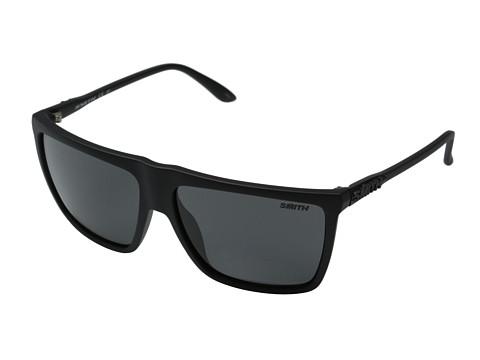 Smith Optics Cornice (Impossibly Black/Blackout Carbonic Lenses) Plastic Frame Fashion Sunglasses