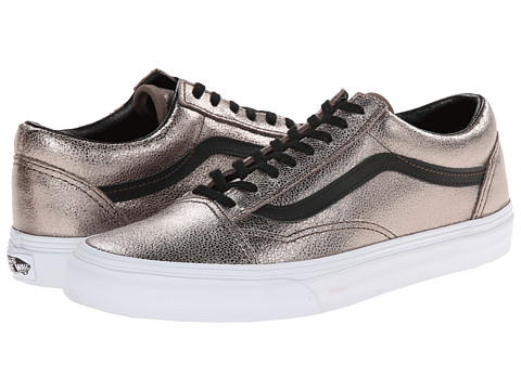 Vans - Old Skool ((Metallic Leather) Bronze/Black) Skate Shoes
