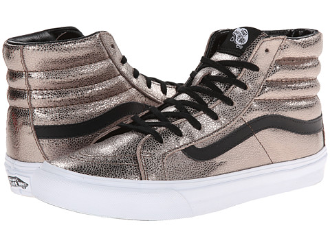 9972e29168e900 UPC 888655433011 product image for Vans SK8-Hi Slim ((Metallic Leather)  Bronze ...