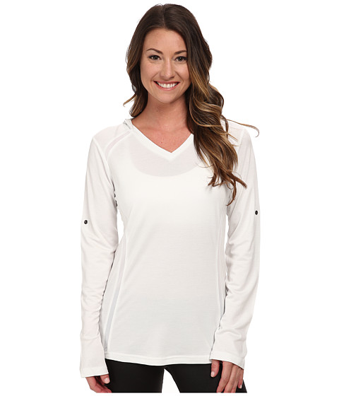 Kuhl - Futura Hoodie (White) Women's Long Sleeve Pullover