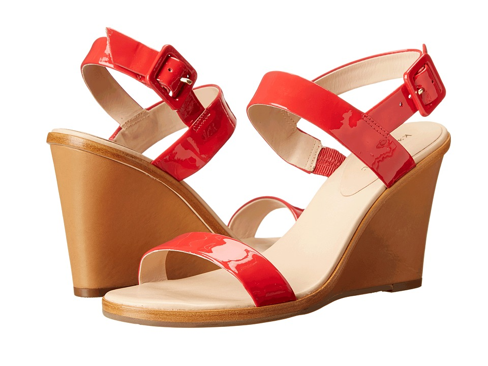 Kate Spade New York - Nice (Red Patent/Natural Vacchetta Heel) Women