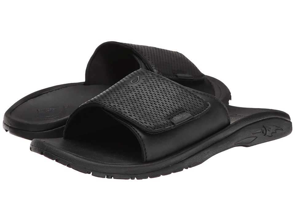 OluKai Kekoa Slide (Black/Black) Men