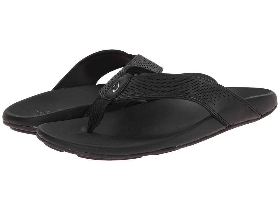 OluKai Kekoa (Black/Black) Men