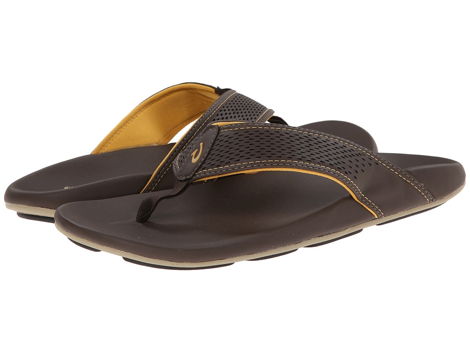 OluKai - Kekoa (Dark Java/Golden) Men's Sandals