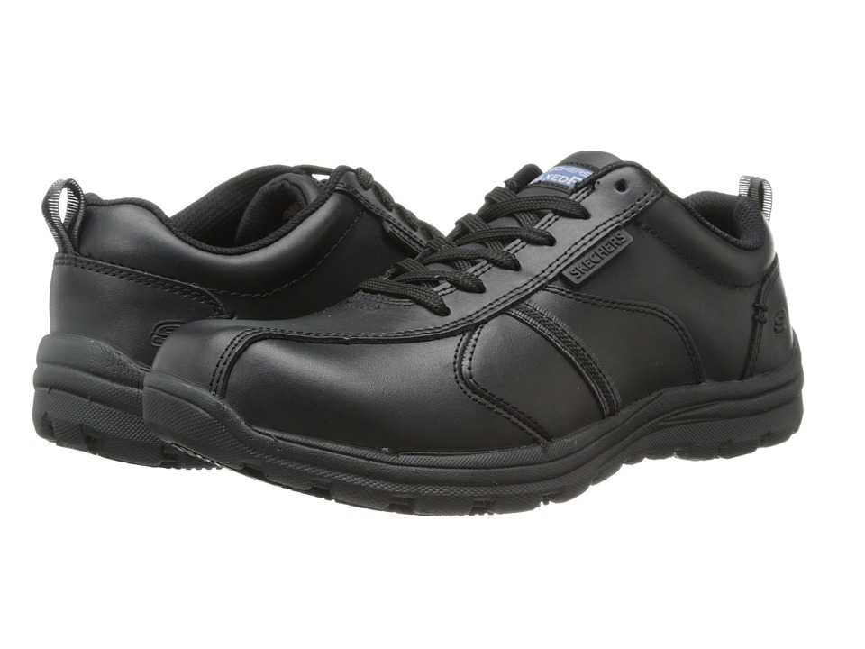 SKECHERS Work - Hobbs - Frat (Black) Men's Shoes