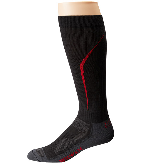 Wigwam - Snow Amped Pro (Black) Crew Cut Socks Shoes