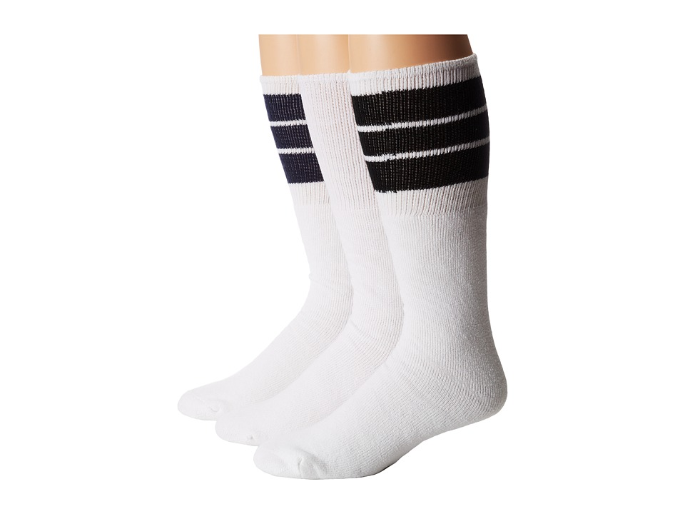 Wigwam - King Tube 3-Pair Pack (Black/White/Navy) Crew Cut Socks Shoes