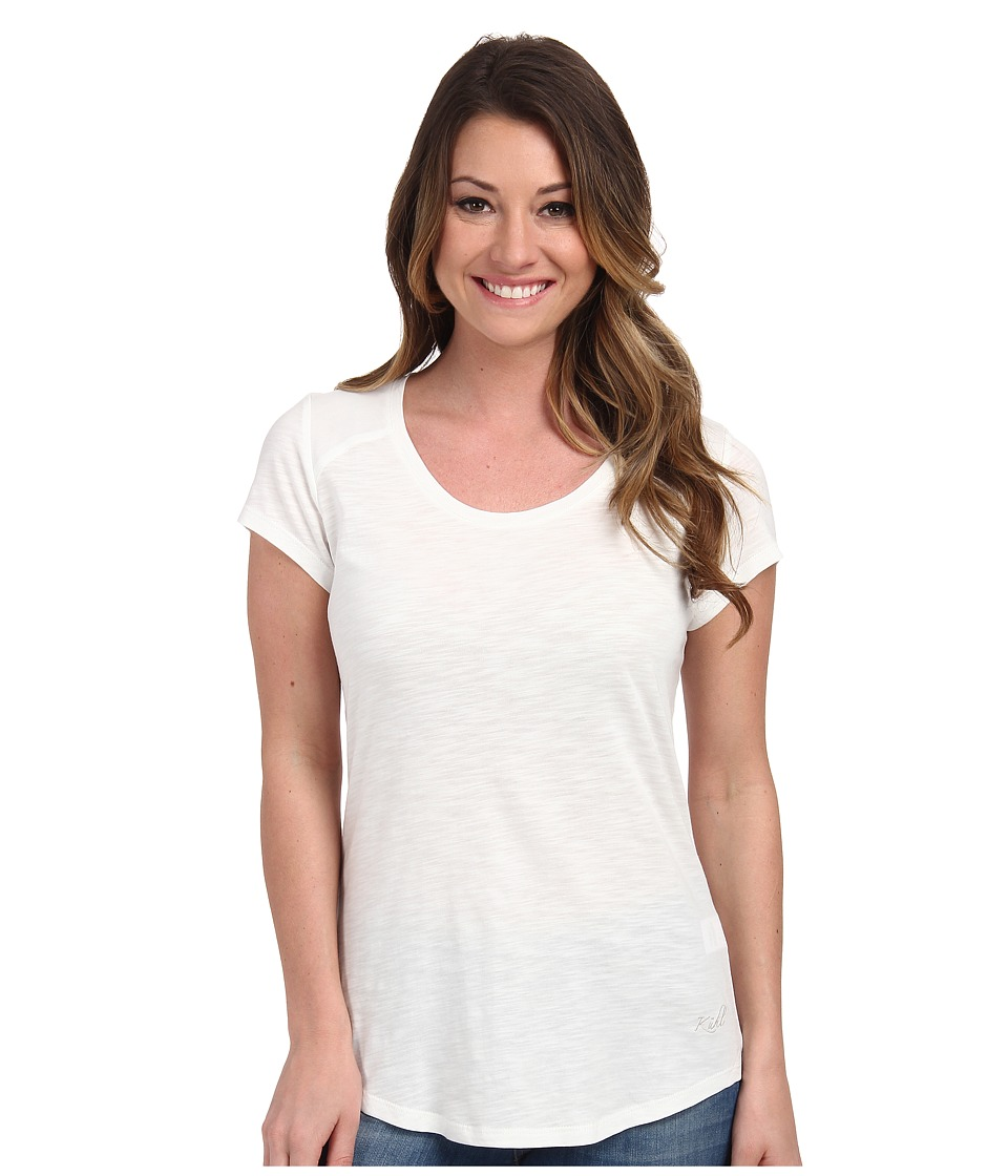 KUHL - Khloe S/S Top (White) Women's Short Sleeve Pullover
