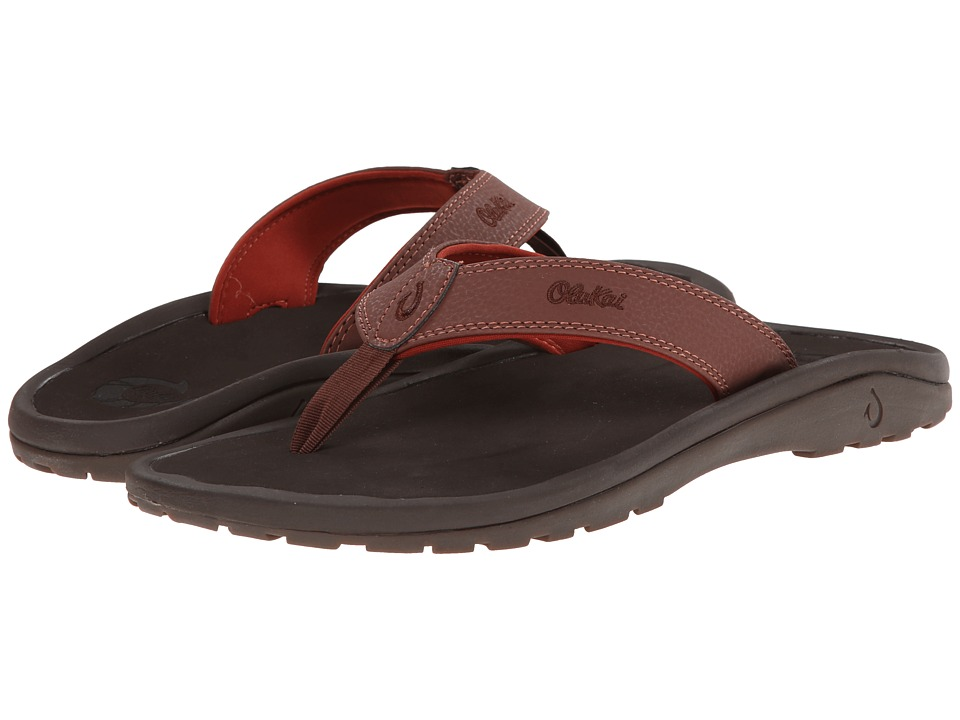 OluKai - Ohana (Brick/Dark Java) Men's Sandals