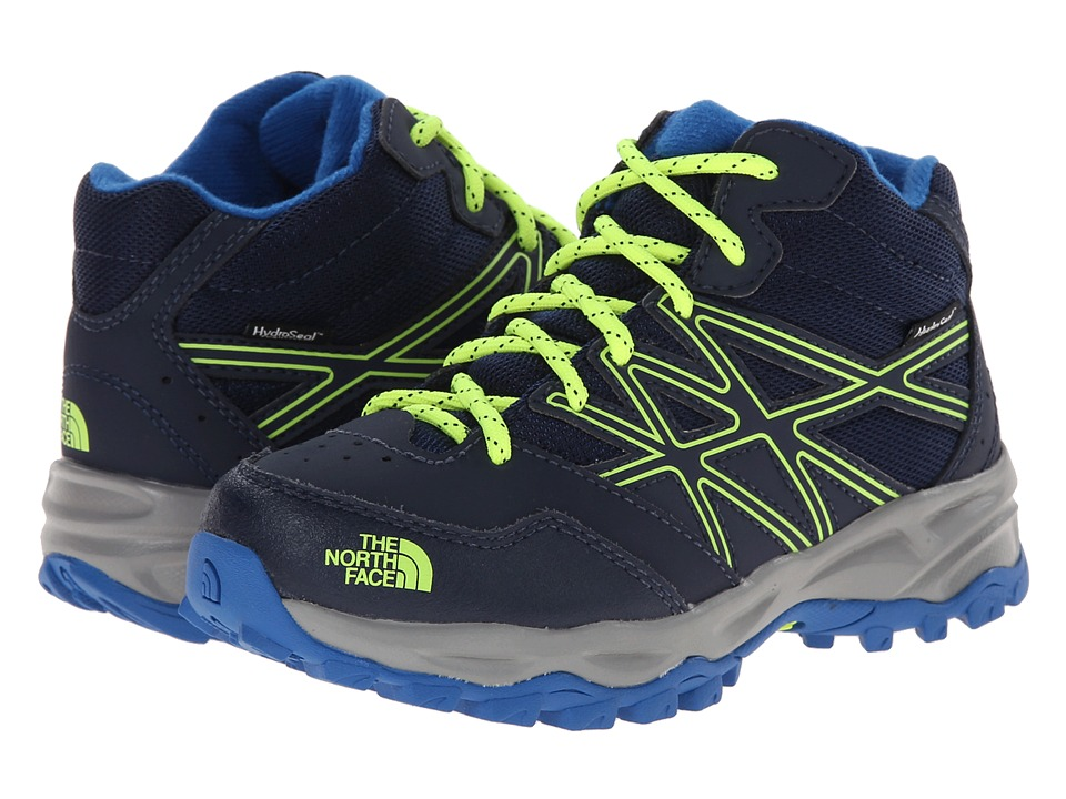 The North Face Kids - Hedgehog Hiker Mid Waterproof (Toddler/Little Kid/Big Kid) (Cosmic Blue/Dayglo Yellow) Boys Shoes