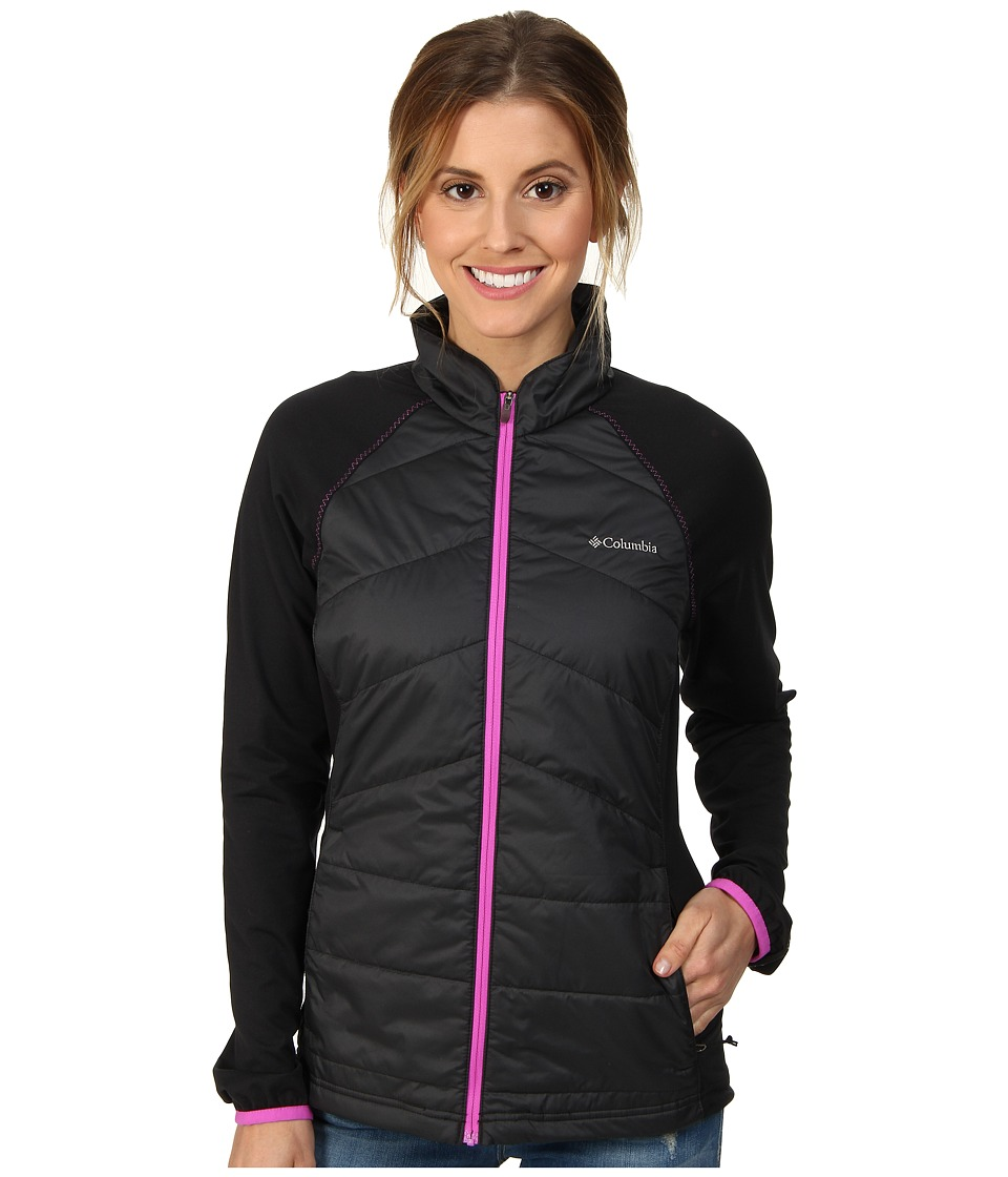 Columbia - Mach 38 Hybrid Jacket (Black/Shark/Foxglove CF Zip) Women's Coat