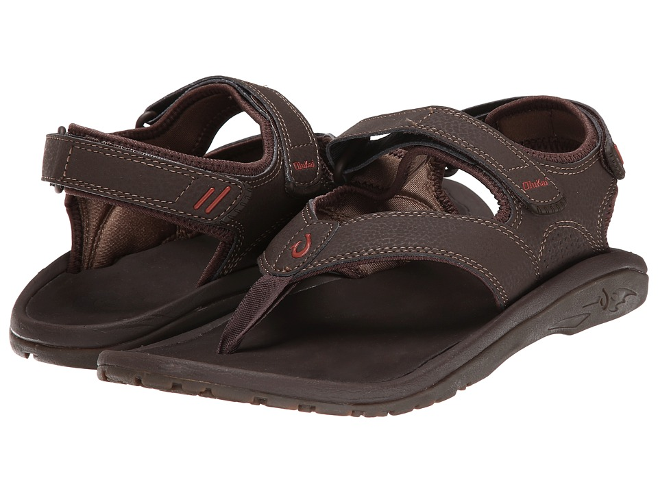 OluKai - 'Ohana Pahu (Dark Java/Ray) Men's Sandals
