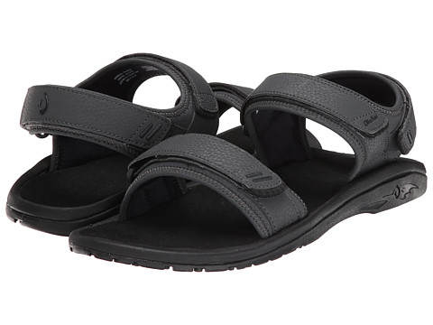 OluKai - Hokua Pahu (Dark Shadow/Trench Blue) Men's Sandals
