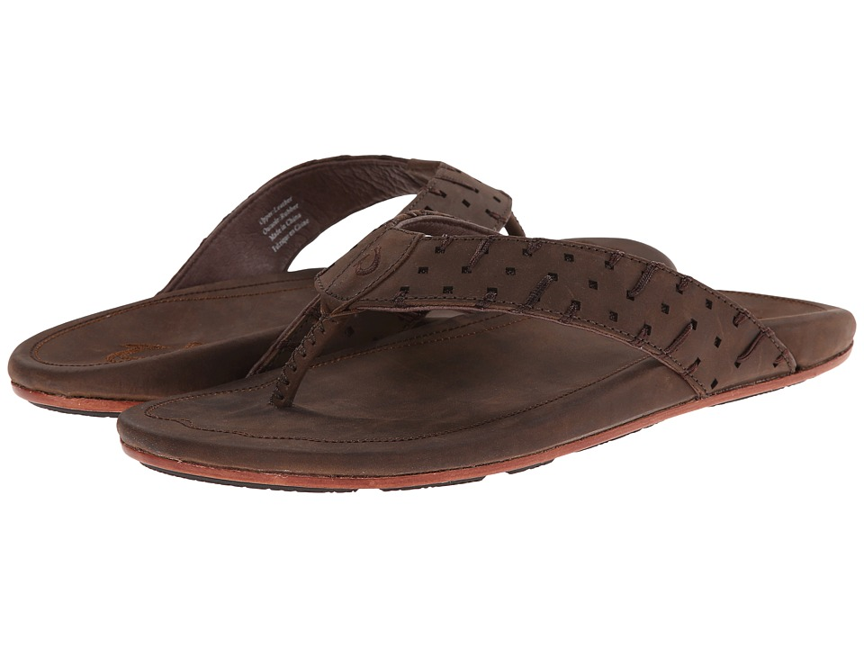 OluKai - Polani (Dark Java/Dark Java) Men's Sandals