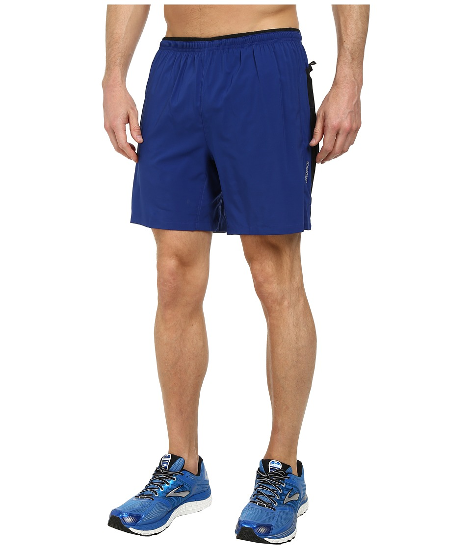 Brooks - Sherpa IV 7 Short (Indigo/Black/Satsuma) Men's Shorts