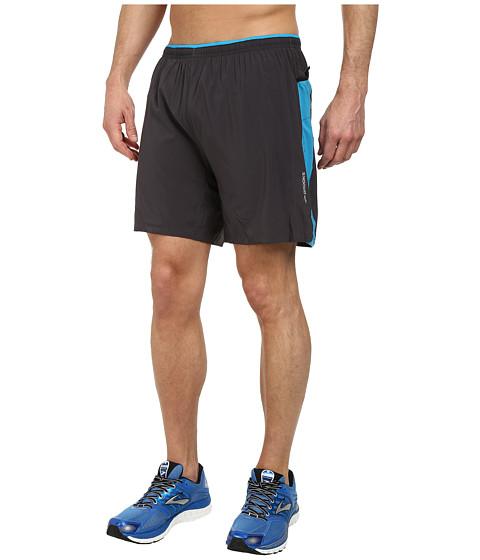 Brooks - Sherpa IV 2-in-1 7 Short (Anthracite/Atlantic) Men's Shorts