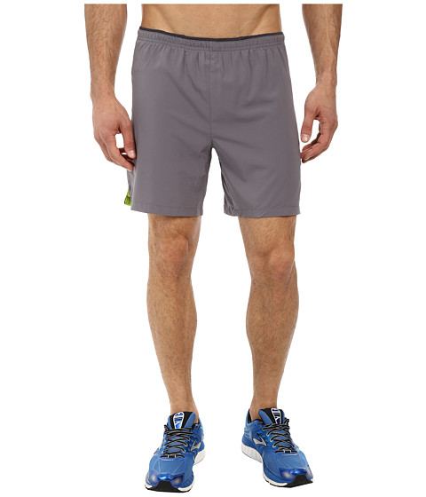 Brooks - Sherpa IV 2-in-1 7 Short (Mako/Lime Green) Men's Shorts