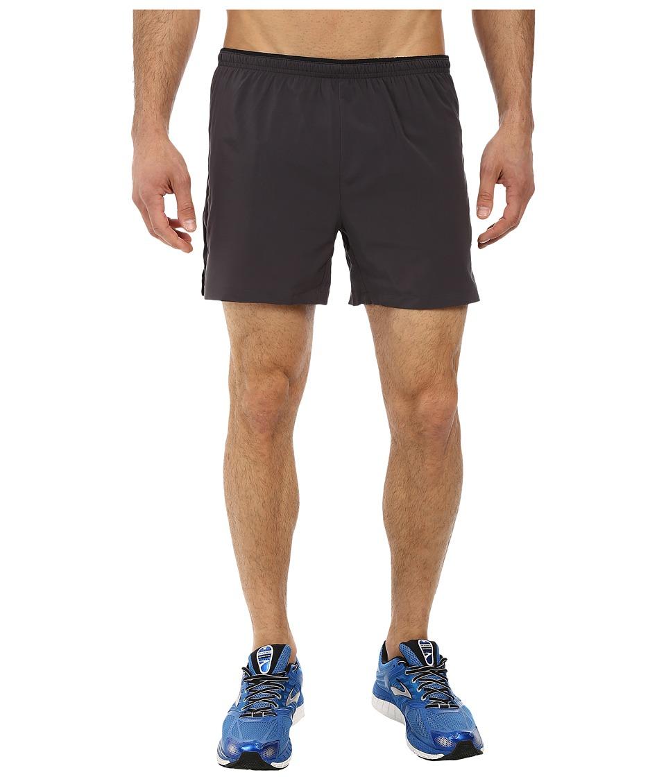 Brooks - Sherpa IV 5 Short (Anthracite/Black) Men's Shorts