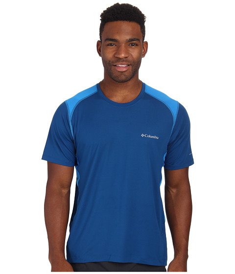 Columbia - Freeze Degree II S/S Shirt (Marine Blue/Hyper Blue/Hyper Blue Stitch) Men's T Shirt