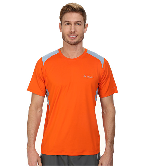 Columbia - Freeze Degree II S/S Shirt (Tangy Orange/Dark Mirage/Whale Stitch) Men