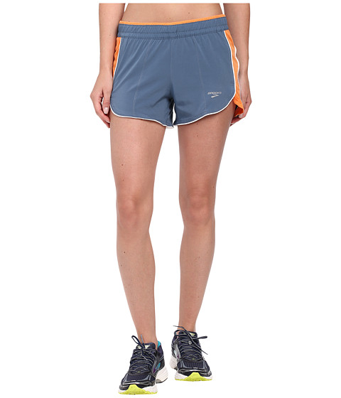 Brooks - Epiphany 3.5 Stretch Short 3 (Storm/Creamsicle) Women