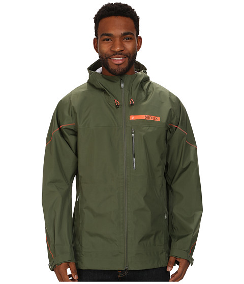 adidas Outdoor - Terrex GTX Active Shell 3 Jacket (Base Green) Men's Coat