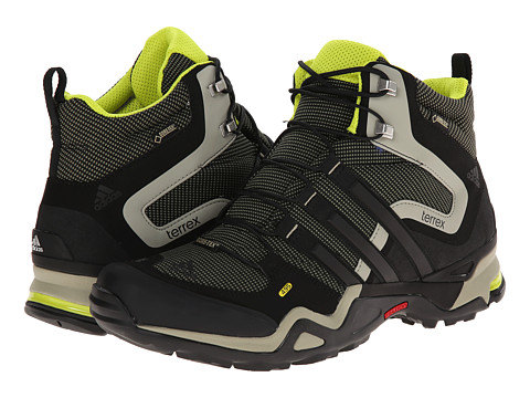 adidas Outdoor - Terrex Fast X High GTX (Base Green/Black/Tech Beige) Men