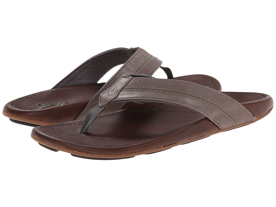 OluKai - Maka (Charcoal/Dark Java) Men's Sandals