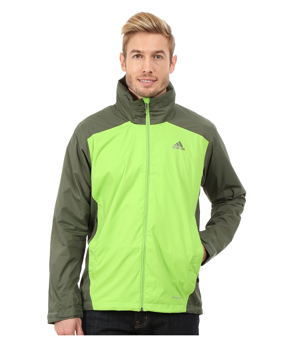 adidas Outdoor - Wandertag 2-Tone Jacket (Semi Solar Green) Men's Jacket