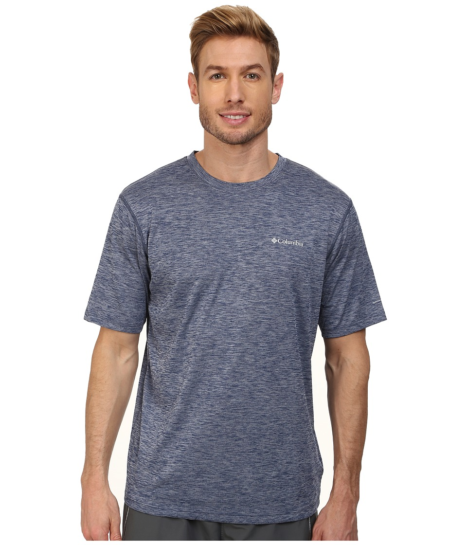 Columbia - Zero Rules S/S Shirt (Carbon Heather) Men's Short Sleeve Pullover