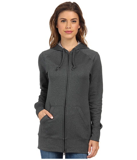 Columbia - Rapid Ridge Full-Zip Hoodie (Black Heather) Women's Sweatshirt
