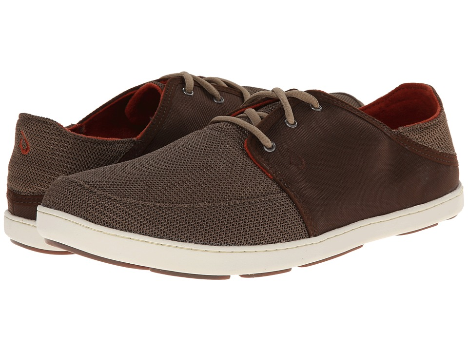 OluKai - Nohea Lace Mesh (Mustang/Dark Java) Men's Shoes