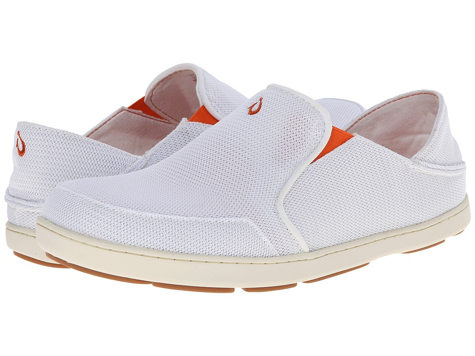 OluKai - Nohea Mesh (White/White) Men's Slip on Shoes