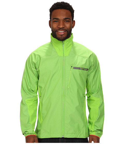 adidas Outdoor - Terrex Hybrid WINDSTOPPER Softshell Jacket (Semi Solar Green) Men