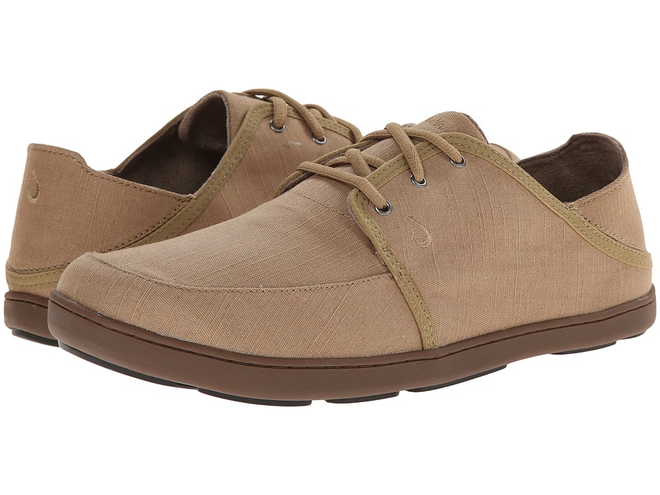 OluKai - Nohea Lace Twill (Khaki/Khaki) Men's Shoes