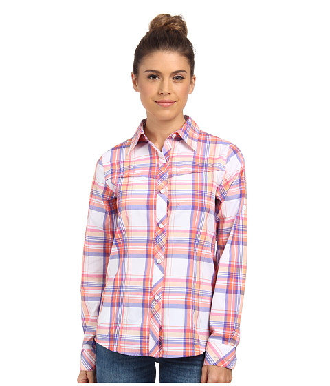 Columbia - Insect Blocker Plaid L/S Shirt (Tropic Pink Plaid) Women's Long Sleeve Button Up