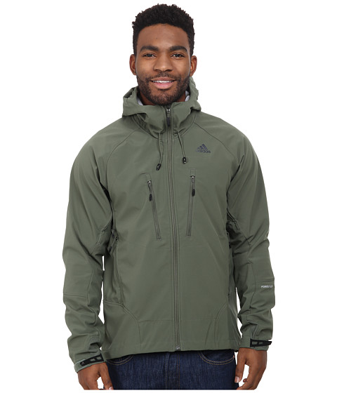 adidas Outdoor - Terrex Swift Softshell Hoodie (Base Green) Men's Coat