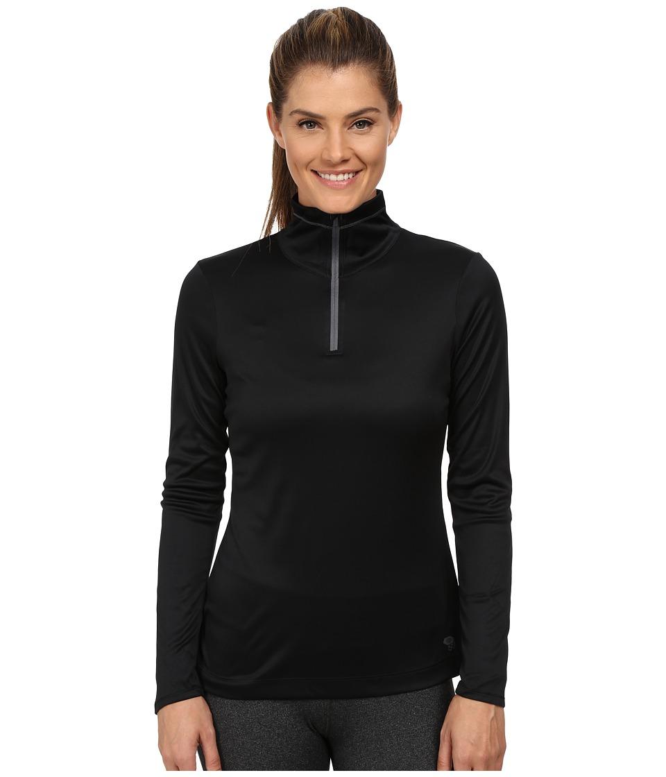 Mountain Hardwear - Wicked Long Sleeve Zip Tee (Black) Women's Long Sleeve Pullover
