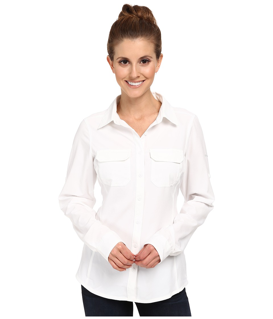 Columbia - Saturday Trail III L/S Shirt (White) Women's Long Sleeve Button Up
