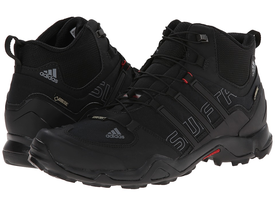 adidas Outdoor - Terrex Swift R Mid GTX (Black/Vista Grey/Power Red) Men's Shoes
