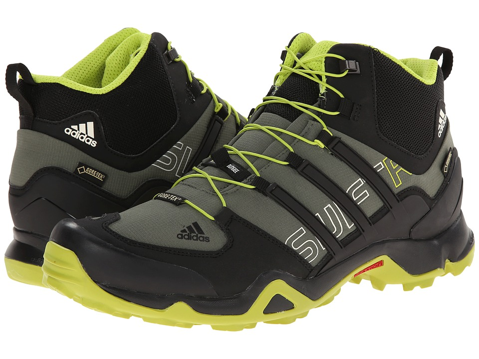 adidas Outdoor - Terrex Swift R Mid GTX (Base Green/Black/Semi Solar Yellow) Men's Shoes