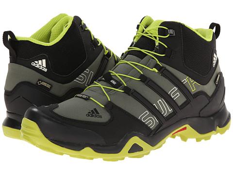 adidas Outdoor - Terrex Swift R Mid GTX (Base Green/Black/Semi Solar Yellow) Men's Shoes
