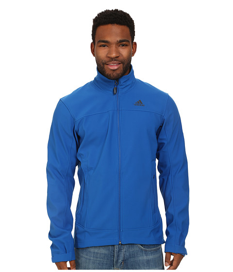 adidas Outdoor - Hiking Softshell Jacket (Blue Beauty) Men's Coat