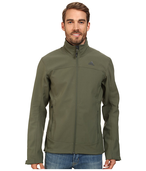 adidas Outdoor - Hiking Softshell Jacket (Base Green) Men's Coat