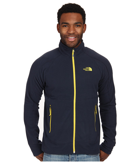 The North Face - Tech 100 Full Zip (Outer Space Blue) Men's Fleece