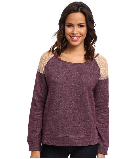 Cruel - Speckled Fleece Lace (Purple) Women's Sweatshirt