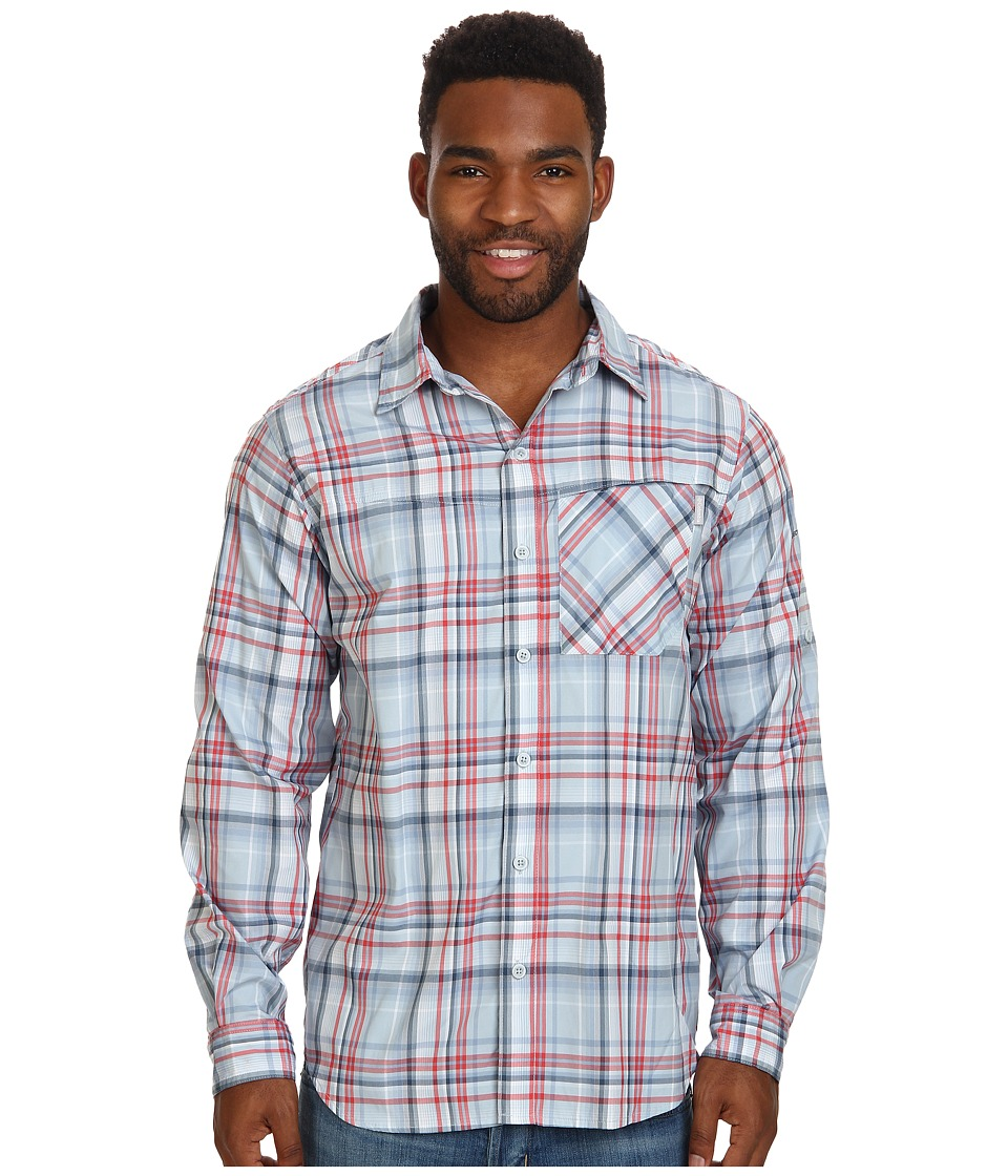 Columbia - Insect Blocker Plaid L/S Shirt (Sunset Red) Men's Long Sleeve Button Up