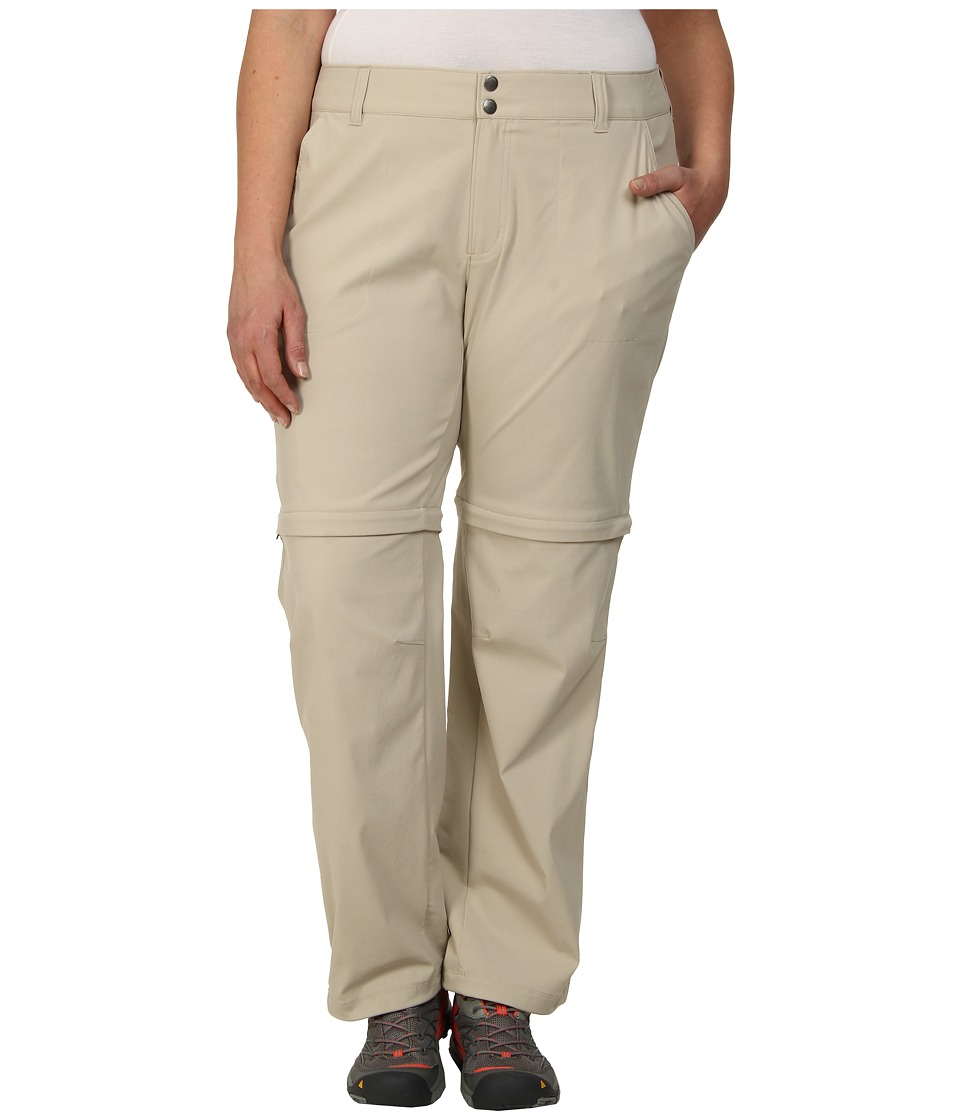 Columbia - Plus Size Saturday Trailtm II Convertible Pant (Fossil) Women's Casual Pants