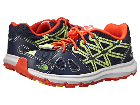 The North Face Kids - Equity (Toddler/Little Kid) (Cosmic Blue/Valencia Orange) Boys Shoes